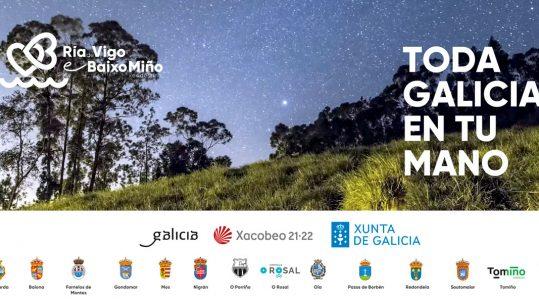 A alcaldesa de Mos, Nidia Arévalo, e a tenente de alcalde de Pazos de Borbén, Eloísa Nogueira, presentarán a nova campaña do xeodestino, 'Toda Galicia na túa man'